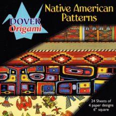 "Native American Patterns, 6"" Origami Paper"