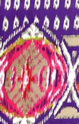 Ikat 6 Fabric Journal Purple & Pink