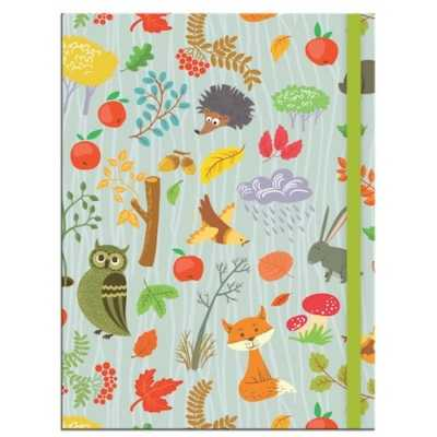 Woodland A5 Notebook With Elastic Closure