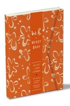 W.B. Pocket Lined Journal – Orange