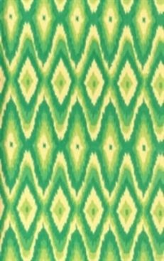 Ikat 3 Journal Green & Yellow