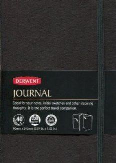 Derwent Black A6 Faux Suede Journal